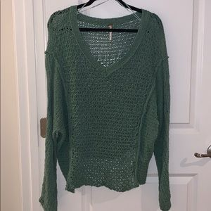 knitted free people sweater